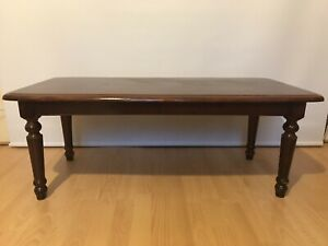 details about wooden coffee table used