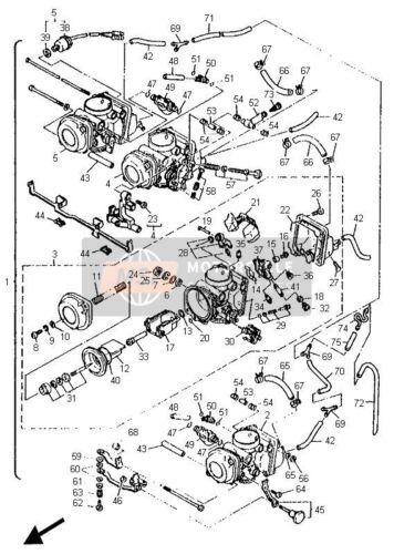 YAMAHA XJ 600 XJ600 DIVERSION MIKUNI CARBURETOR CARB