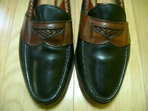 MADE IN USA! Men's Dress Shoes FOOTJOY PENNY Loafers Sz 8 M Black Brown Leather | eBay