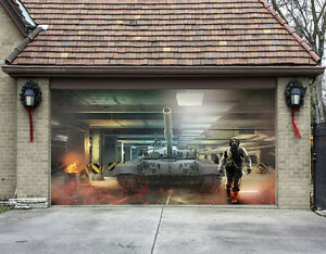 3D Tank Movie 8 Garage Door Murals Wall Print Decal Wall
