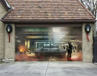 3D Tank Movie 8 Garage Door Murals Wall Print Decal Wall