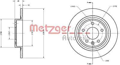 METZGER Brake Disc For OPEL CHEVROLET Ampera Astra J GTC