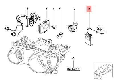 Genuine BMW E46 Cabrio Compact Ignition Xenon Light