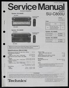 TECHNICS SU-C800U Original Amplifier Service-Manual