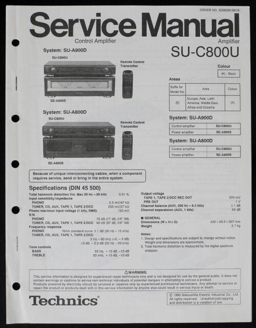 Technics SU-C800U Original Amplifier Service Manual