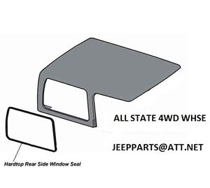 JEEP HARDTOP SIDE 1/4 QUARTER GLASS SEAL WEATHERSTRIP 1997