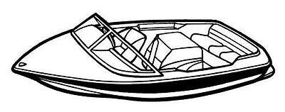 7oz BOAT COVER SEA RAY SKI RAY SPORTSTER CLOSED BOW 1995