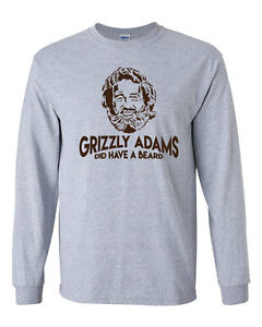 Grizzly Adams Did Have A Beard : grizzly, adams, beard, Grizzly, Adams, Beard, Sleeve, Shirt, Funny, Sandler, Movie, Quote