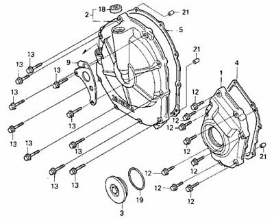 HONDA CBR 600 F2 F3 1991-1998 Engine stainless allen screw
