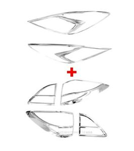 Fit For NC Mazda BT-50 Pro 2012-2016 Chrome Head Lamp+
