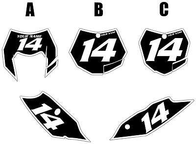 Fits KTM 250XC 2011 Custom Pre-Printed Black Backgrounds