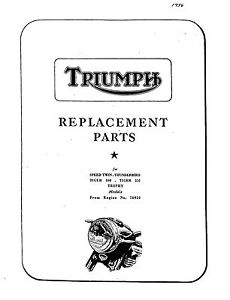Triumph Parts Manual Book 1956 5T SPEED TWIN, 6T