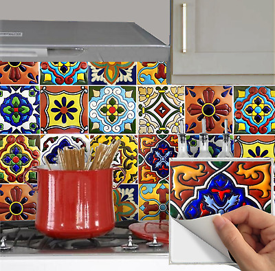 tile stickers for kitchen backsplash bathroom peel and stick mexican tr001 ebay