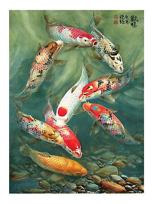 painting for living room feng shui paint schemes small rooms modern wall decor print oil fish koi 559 ebay