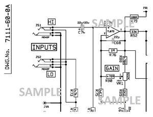 MARSHALL DBS 7200, 72115, 72410 200w Amplifier Schematic
