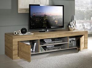 Mobile base porta tv moderno modello Milano rovere miele sala soggiorno salotto  eBay