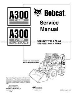 Bobcat A300 Turbo Highflow 2012 Update Skid Steer Printed
