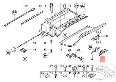 Genuine Glove Box Lock Lower Part BMW E46 318Ci 320Cd
