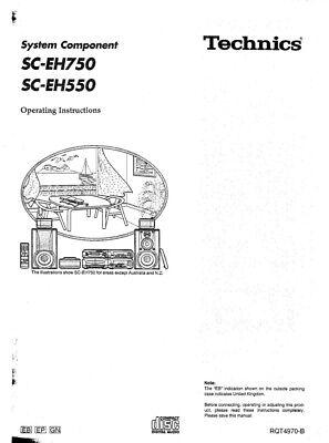 Technics SC-EH750 SH-EH750 SA-EH750 SL-EH750 RS-EH750