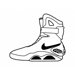Back To The Future Mag Shoes Waterproof Decal Sticker for