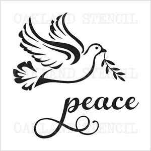 Christmas/Winter STENCIL**peace w/Dove**12x12 for Sign
