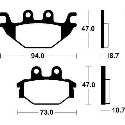 Lining, brake compatible with Arctic Cat DVX 250 2006-2009