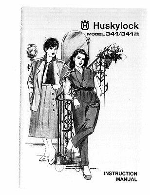 Husqvarna Viking Huskylock 341 341D User Owners Manual
