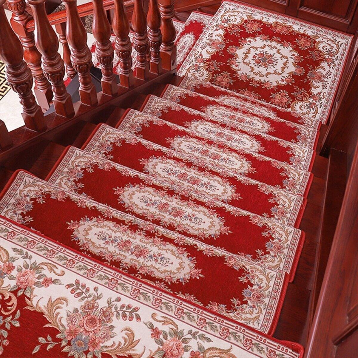 1 7Pcs Thick Non Slip Staircase Floor Carpet Stair Mats Rugs Pads   Thick Carpet Stair Treads   Stair Runner   Montauk Linen   Flooring   Skid Resistant   Grey