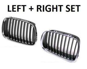 Genuine BMW Front Bumper Kidney Grille Set Left + Right