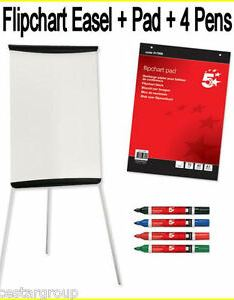Image is loading  flip chart white board on easel stand also with flipchart paper rh ebay