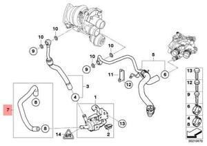 Genuine BMW R55 R55N R56 R56N R57 Turbocharger Coolant