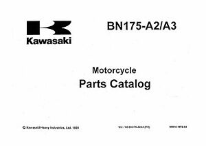 Kawasaki Parts Manual Book 1999 & 2000 Eliminator 175
