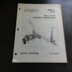 Paper Airplane Diagram Of Parts Gmos 01 Wiring Fox Sbguide Co Model 2100 Pull Type Forage Harvester Catalog Manual 716 Rh Ebay Com An And Their Functions