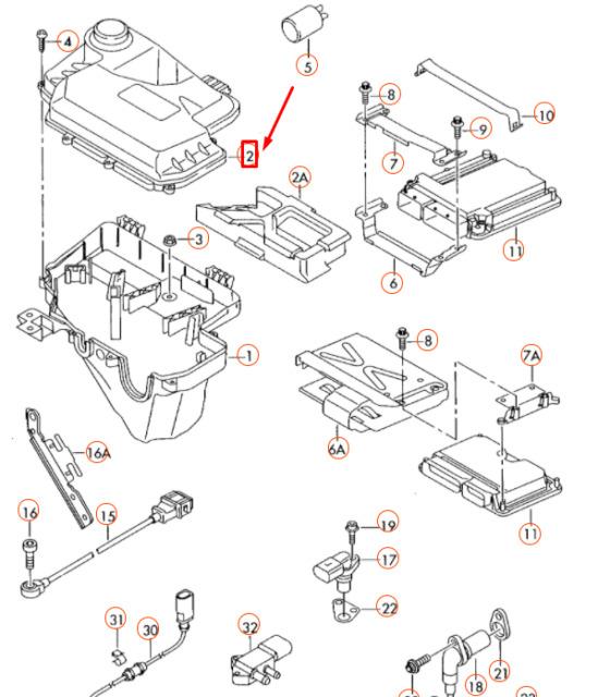 2005-2011 Audi A6 Quattro ECU ECM Engine Control Module