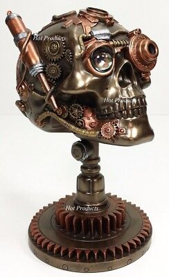 steampunk human skull on