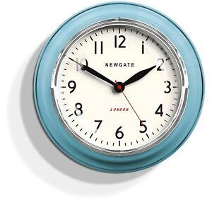 blue kitchen wall clocks robot newgate clock retro vintage the image is loading