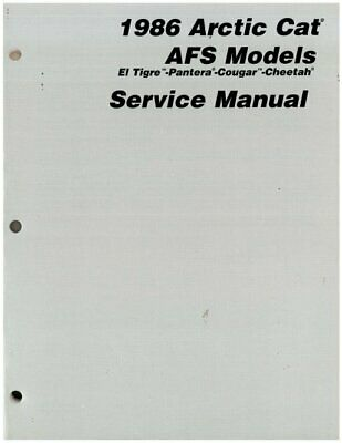 1986 Arctic Cat All AFS Snowmobile Service Manual : 2254