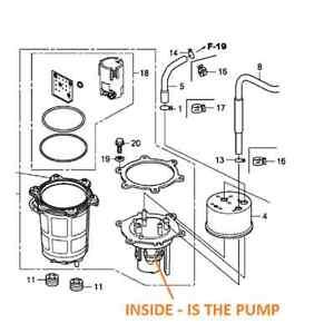 officially authorized HONDA TRX 680 RINCON 06-19 Fuel Pump