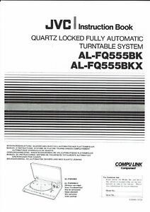 JVC Instruction User Manual Owners Manual for Al-FQ 555