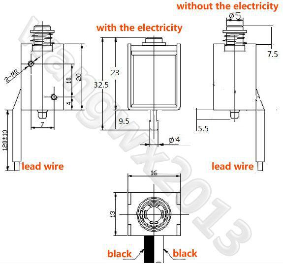 1P DC8-12V Strike Push Type Mini Electromagnet Solenoid