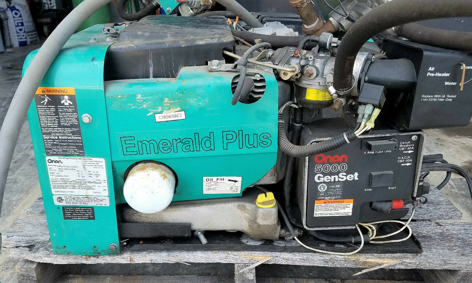 hight resolution of 1998 5 0 kw onan emerald plus 5000 generator ebay onan wiring circuit diagram onan emerald plus generator wiring