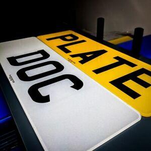 Pair of standard short UK road legal MOT number plates car ...