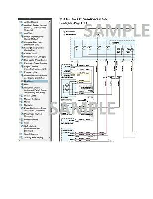 Ford F-150 2011 11 Complete Color Wiring Diagram Schematic