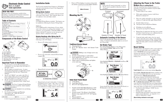 Tekonsha Prodigy P3 Trailer Brake Control for 13-14 RAM