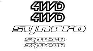 VW 4WD SYNCRO Decal Sticker set 1986-91, Volkswagen