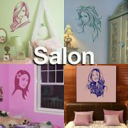 hair salon wall stickers hairdressing