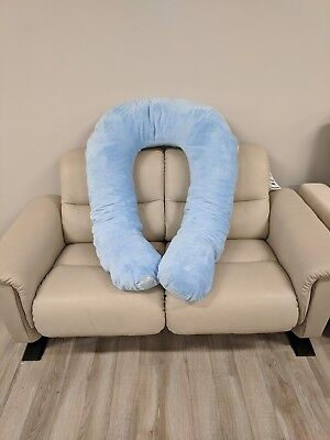 comfort u kids body pillow in light blue ebay