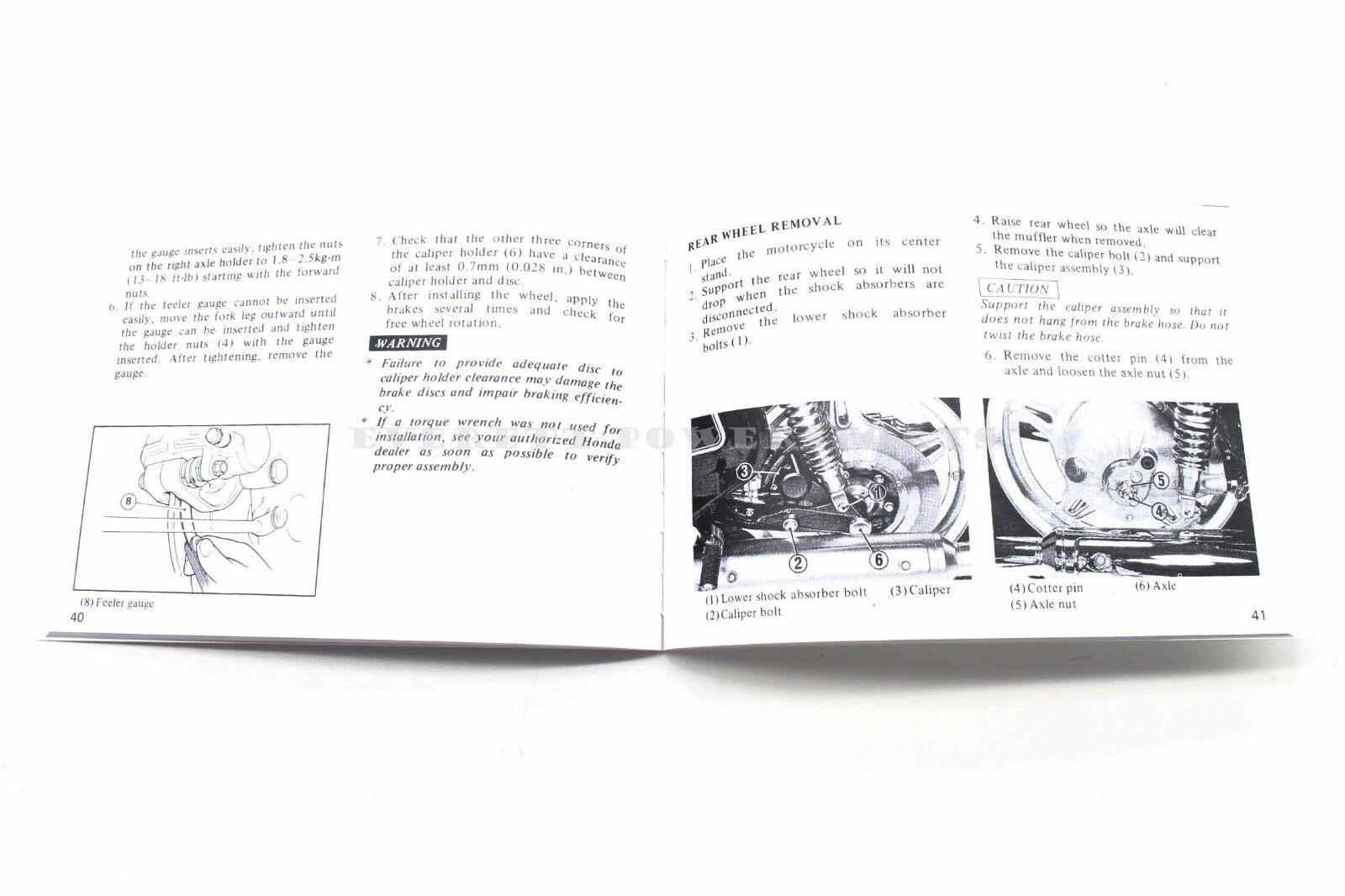 Manuals & Literature New Owners Manual 1978 GL1000 K2