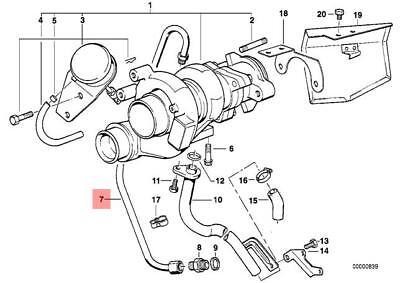 Genuine BMW E34 Sedan Wagon Lubrication Turbocharger Oil