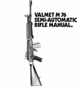 Valmet M76 Rifle Instruction Manual With Free DVD Gun